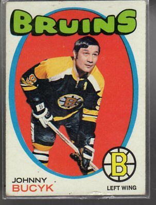 Johny Bucyk 1971-72 Topps Card #35 Boston Bruins Gd1150