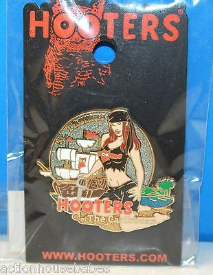 Hooters St Thomas Hooters Of The Caribbean Sexy Pirate Girl Lapel Pin
