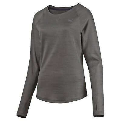 Puma Rebel-Run L/S W Maglietta a Manica Lunga - Grigio (Medium Gray Heather) - S