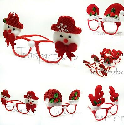12 Christmas Ornaments Glasses Decor Evening Party Christmas Favors Reindeers