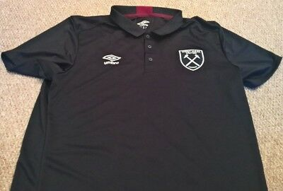 CLUB ISSUED West Ham Players Umbro Polo Adult XL Irons WHU 2017 Noble COYI