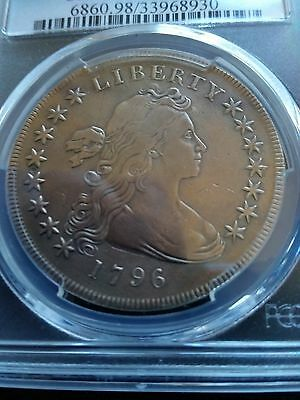 1796 Draped Bust Dollar, Pcgs Vf Details, Low Mintage!