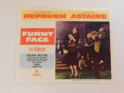 Funny Face 1957 Audrey Hepburn Fred Astaire Set of 1 Lobby Card-Great Condition