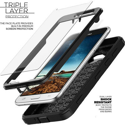 Shockproof RUGGED ARMOR Slim Hard Phone Case Cover w/ BUILT-IN SCREEN PROTECTOR
