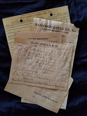 Mining Paper from 20's-30's Yellow Aster Mining & Milling Co Randsburg, Ca