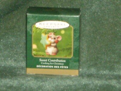 Hallmark 2001 Sweet Contribution - Cooking for Christmas - Miniature - NEW