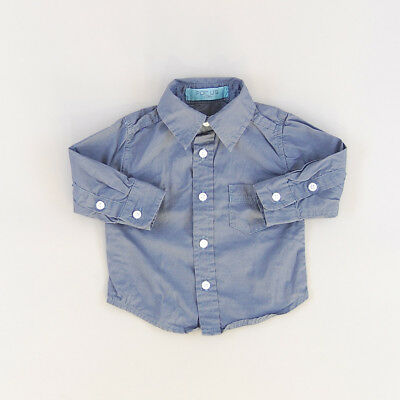 Camisa color Azul marca For Us 3 Meses