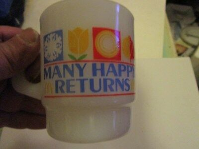 Mcdonald Cup - Many Happy Returns - 1982 - Oven Proof 46 312 Made In Usa -