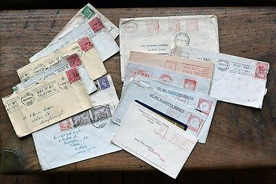 OLD POSTCARD Collection of Envelopes stamps & postmarks late 20-1930s  14