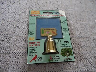 Nip Solid Brass Pennsylvania State Collector's Bells Usa