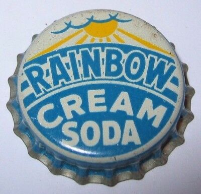 Rainbow Cream Soda Pop Bottle Cap; 1942-48; Memphis/brownsville, Tn; Unused Cork
