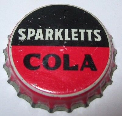 Sparkletts (Not Sparkeeta) Cola Soda Pop Bottle Cap; Los Angeles, Ca; Used Cork