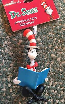 Dr. Seuss CAT in the THE HAT Resin Christmas Ornament by Hallmark