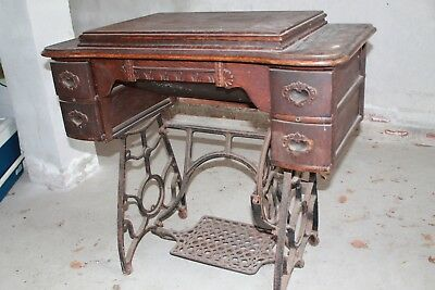 Antique Pedal Standard Sewing Machine with original stand & cabinet