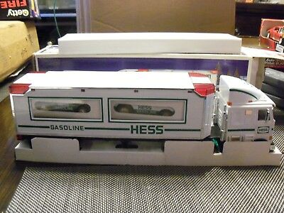 Hess 1997 Toy Truck and Racers with Friction Motors. Lightly used