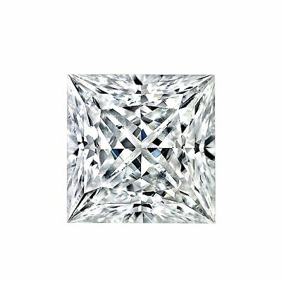 Moissanite Princess Forever One Loose VVS1 D-E-F Color Engagement Free Shipping