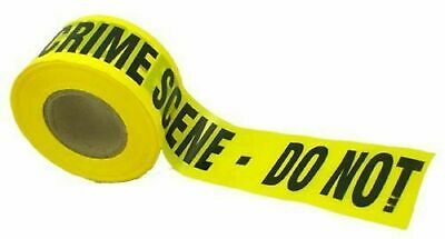 REAL  Police Barrier Tape-Crime Scene Do Not Enter  forensic 10m 100% Authentic