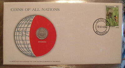 Coins of All Nations Botswana 1 Thebe 1976 UNC