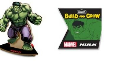 Lowes Build and Grow Marvel Avengers Incredible Hulk Wood Kit