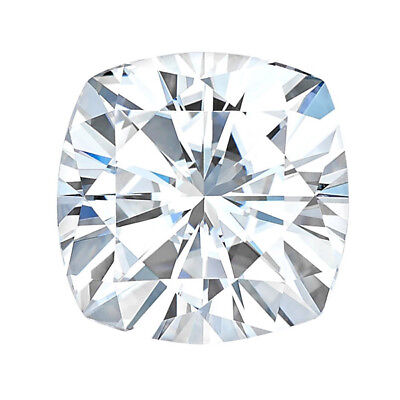 Moissanite Cushion Forever One Loose VVS1 G-H-I Color Engagement Free Shipping