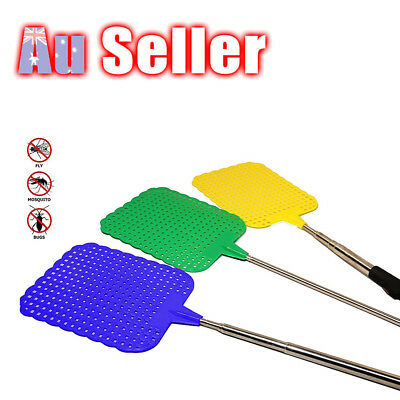 Extendable Extends to 73cm Handle Telescopic Insect Fly Swat Swatter Mosquito