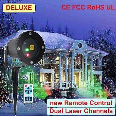 Christmas Fairy Laser Light Show Projector Starry Xmas Garden Landscape Outdoor
