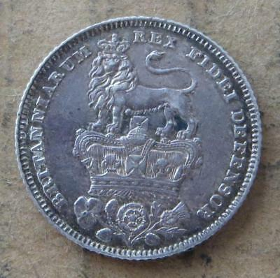 Great Britain 6 Pence 1826 EF Sixpence George IV. JO-4012
