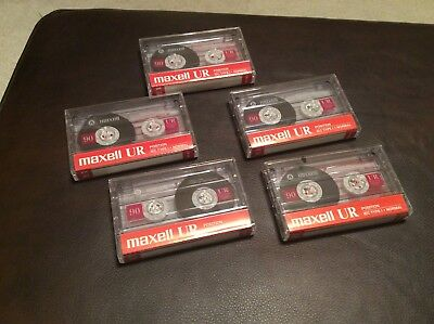 Maxell UR Position IEC Type I Normal Lot of 5 Cassettes