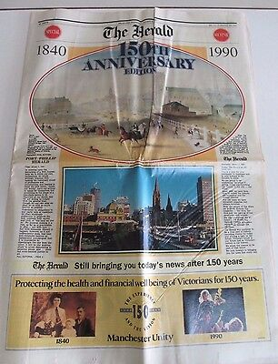 'The Herald' Newspaper - 150th Souvenir Edition - Melbourne, Australia - 1990