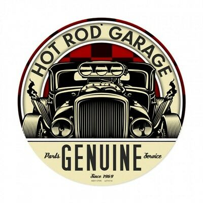 Hot Rod Garage Metal Sign Genuine Parts and Service Mechanic Auto Body Shop