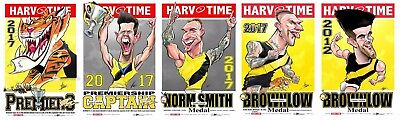 2017 Richmond Tigers Premiers Premiership Harv Time Print Set Of 5 Brownlow