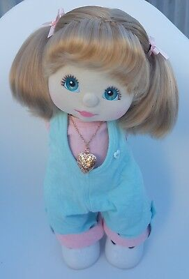 ♡ Mattel My Child ♡ US Girl ♡ Ash Puppytails, Aqua Eyes, Char/Pink, Locket ♡ EC