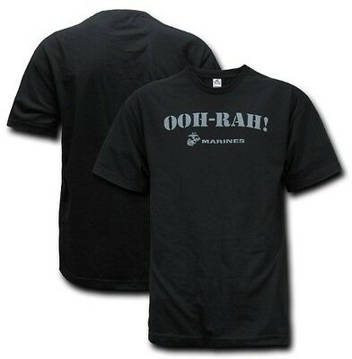 USMC OOH-RAH! EAG US MARINES Army TEE SHIRT black Small