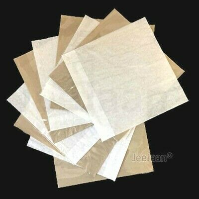 Clear Film Front Cellophane Window Paper Bag Sandwich Food Card Cake White Brown