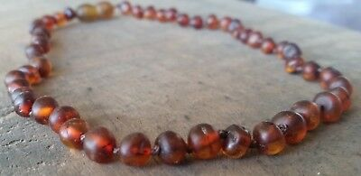 Baltic Amber Child Necklace  UNPOLISHED CHERRY (RUBY)  Jewellery Beads FREE POST