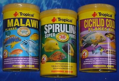 Tropical Futterset Malawi Spirulina Forte Cichlid Color 3x1000ml