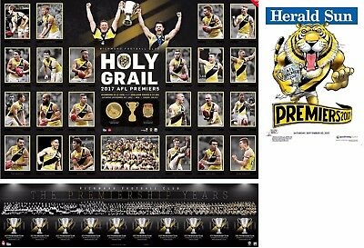 2017 Richmond Tigers Holy Grail Premiers Premiership Print + Vfl Montage Knight
