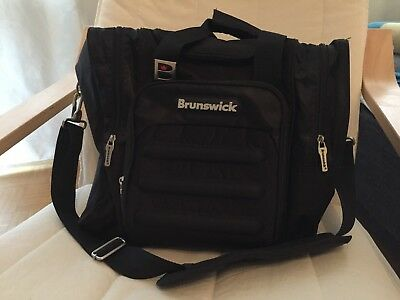 Brunswick Single Flash Black Bowling Ball Kugel Tasche - Top Zustand