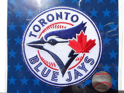 LARGE 10cm TORONTO BLUE JAYS OFFICIAL PATCH Embroidered Baseball Canada NEW