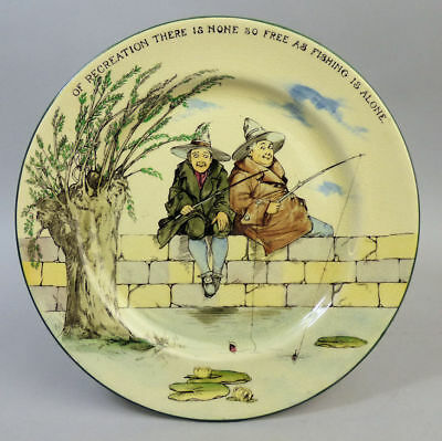 A Fine Royal Doulton Series Ware Pottery Plate The Gallant Fishers D3680 C1920