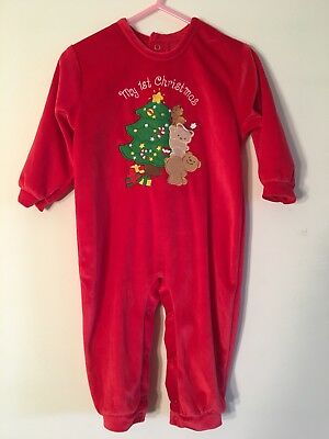 My First Christmas Holiday One Piece Outfit Size 9-12 Months