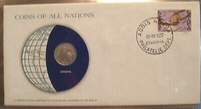 Coins of All Nations Ethiopia 25 cents UNC (1969) 1977 KM#46.1 British Royal