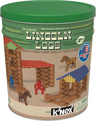 LINCOLN LOGS – Centennial Edition Tin – 153 Pieces – Ages 3+ – Preschool