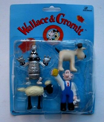 Aardman Animations Wallace And Gromit A Close Shave 4 Figures New Free P&p