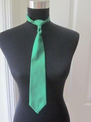 Boys Green Formal Adjustable Neck Tie for Tuxedo Weddings