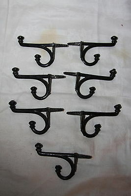 7 Antique Cast Iron Double Acorn Hooks Hat Coat Hook Wall Mount Hooks