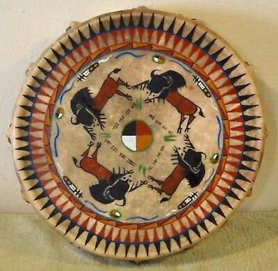 Buffalo Power /Native American Drum Painted by Lakota Artist Sonja Holy Eagle