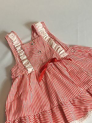 Vintage Toddler Dress Red Striped JCPennys