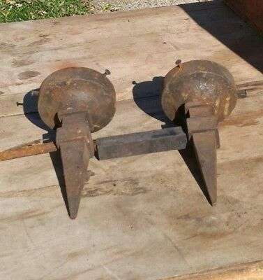 Antique Vtg Mission Arts And Crafts Wall Sconces Cast Iron
