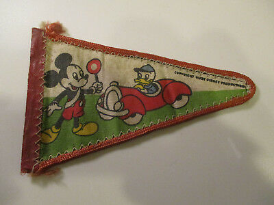 Wimpel Fahne mit Micky Maus, Donald Duck, Cinderella